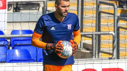 Bartosz Bialkowski was on the bench for Ipswich Town against Norwich. Picture: STEVE WALLER W