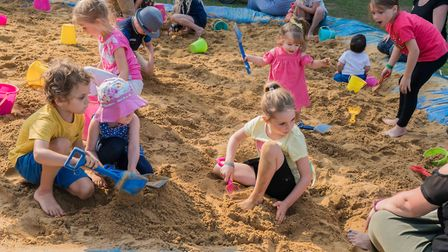 The annual Stowmarket Beach Party featured Punch and Judy, donkey rides and sandcastle building Pict