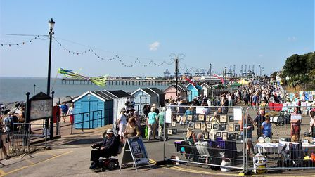Plenty of art to look at along the prom Picture: BARRY PEACOCK