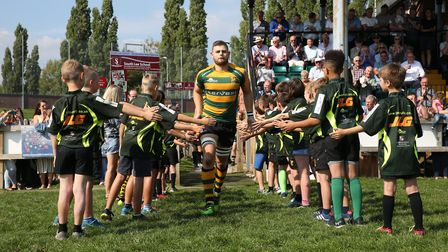 New Bury captain Ollie Watson leads him team out against Henley. Photo: Shawn Pearce Photography