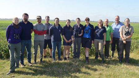 Members of the Project Godwit team Picture: Bob Ellis/WWT