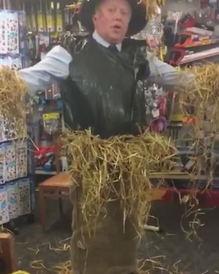 Shop Manager Oliver Green in one of his many costumes that appear in the videos on their Facebook Pa