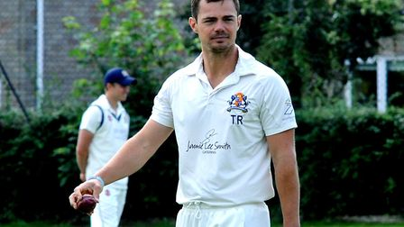 Tom Rash, who led his Mildenhall side to victory, scoring 41 with the bat and then taking five wicke