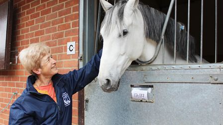 Dr Sue Dyson with a horse at the Animal Health Trust. Picture: Animal Health Trust