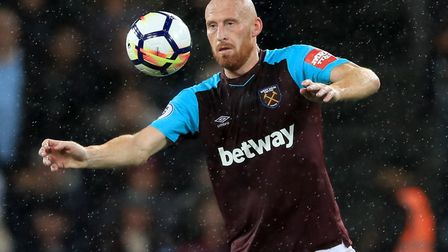 James Collins was released by West Ham this summer but has continued training with the club to maint
