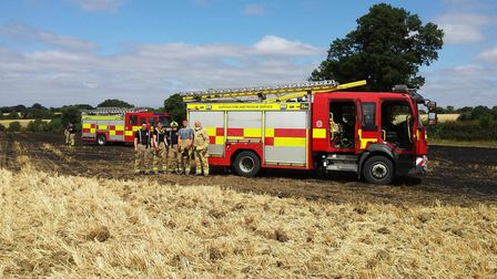 Warnings over 'tinder dry' conditions were issued in the hot weather Picture: SUFFOLK FIRE AND RESCU