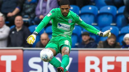 U's keeper, Dillon Barnes, who was beaten by his namesake Marcus Barnes during the first half agains