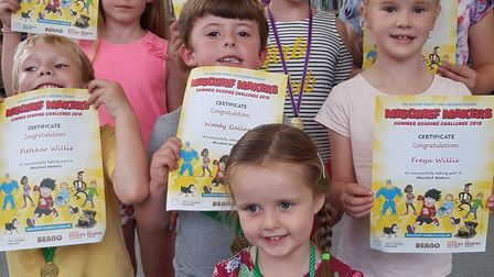 Some of those who took part show off their certificates Picture: RACHEL EDGE