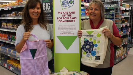 The East of England Co-op has introduced the 'Borrow Bags Scheme' at its stores in Felixstowe and Wa