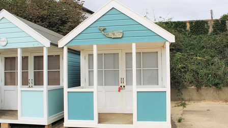 This beach hut on The Promenade in Southwold is on sale for £150,000 Picture: DURRANTS