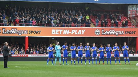 Ipswich Town fans in the two-tier away stand at Griffin Park. Photo: Pagepix