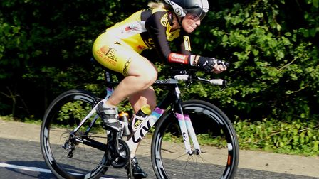 CC Breckland 50 winner on handicap and a personal best: Jan Smith (Great Yarmouth CC). Picture: FERG