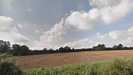 This shows the countryside off Colchester Road, Bures, that many residents do not want to built on.