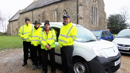 Community fire volunteers (left to right) Phil Daly, Stuart Cox, Arnie Bennett and Peter Nightingale