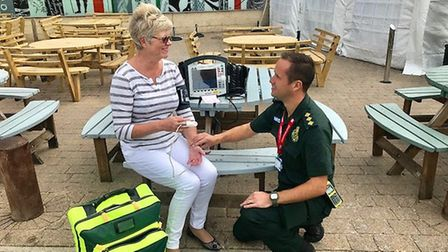 Duty locality officer and paramedic James Fisher has worked for the ambulance service for 15 years