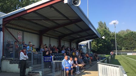 Home fans watching their side in action against Bowers & Pitsea at King's Marsh last weekend. Pictur