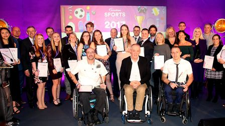 Winners of the Active Essex Sports Awards 2017 Picture: ACTIVE ESSEX