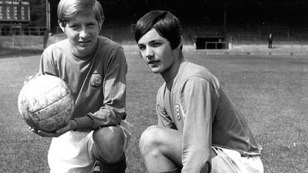 A young George Burley, right, with Kenny Taylor Photo: ARCHANT