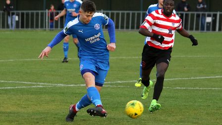 Youngster Harry Knights was in action for Leiston in midweek. Picture: JOHN HEALD