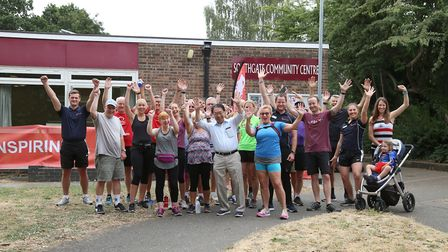 The launch of the new Southgate walk/run route in Bury St Edmunds Picture: ABBEYCROFT LEISURE