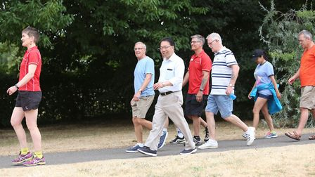 Walkers team up to try out the new Southgate route in Bury St Edmunds Picture: ABBEYCROFT LEISURE