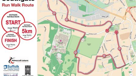The new Southgate walk/run route.