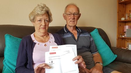 Pat and Eddie Townsend had £600 stolen from their bank account after Pat's purse was stolen Picture: