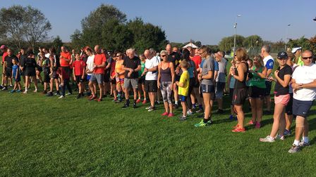 Runners asemble for the start of last Saturday's Burnham-on-Crouch parkrun, at the Riverside Country