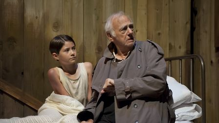 Jasmine Briggs as William Beech and Roy Hudd as Tom Oakley. Picture: TONY KELLY
