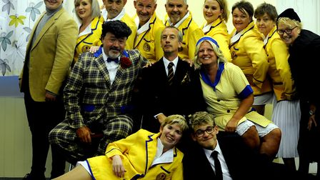 The cast of the Barton Players production of Hi De Hi. PICTURE: Andy Abbott