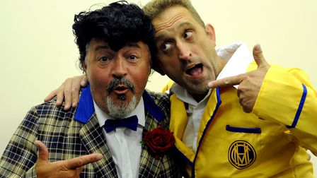 Barton Players production of Hi De Hi. Gary Largent and Craig Plumley as Ted Bovis and Spike PI