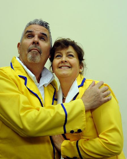 Barton Players production of Hi De Hi. Barry and Yvonne Stuart-Hargreaves played by Derek Bourke an