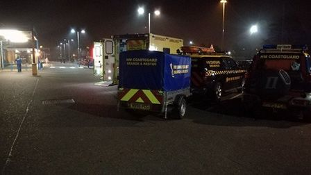 Passengers were rescued from a beached ship at lowestoft Picture: UK COASTGUARD