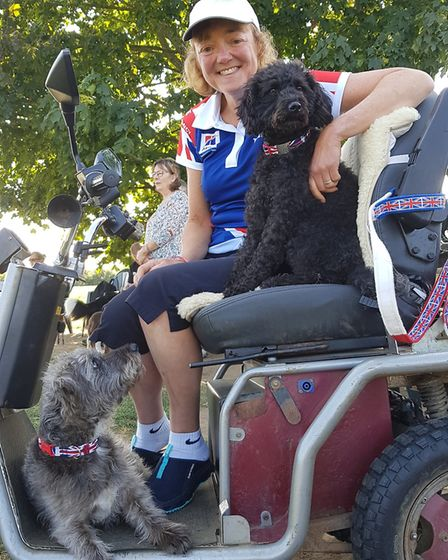 Julie, Dodger and Nancy have been training with the UK ParAgility team for the last two years after