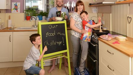 The Scriggins family say the Food Savvy challenged saved money and made food go further Picture: HUB