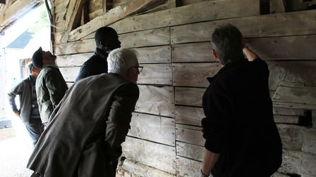 Delegates on a bats and historic buildings course at Cressing Temple Barns