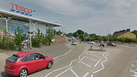 The incident happened outside the Tesco on Lord's Croft Lane in Haverhill Picture: GOOGLE MAPS