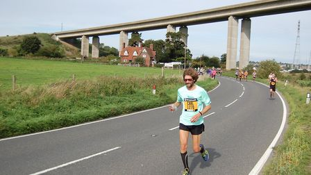 'On the Run' columnist, Carl Marston, heads out along The Strand (B1456), with the Orwell Bridge as