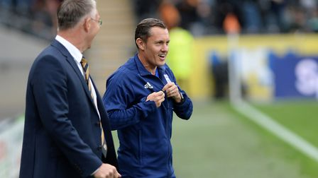 Ipswich Manager Paul Hurst with Nigel Adkins at Hull City Picture Pagepix