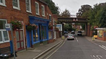 The incident happened near a bus stop in Saxmundham High Street Picture: GOOGLE