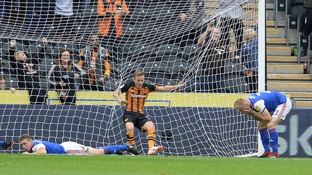 Flynn Downes is distraught after his mistake led to Hull City taking the lead on Saturday. Photo: Pa