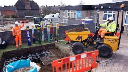 Installing a Sustainable Drainage Systems (SuDS) at All Saints Primary School in Newmarket