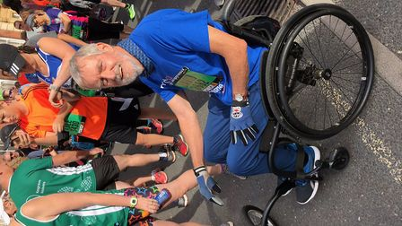 David ran the Great East Run for the Motor Neurone Disease Association Picture: DAVID COOPER