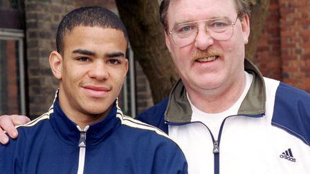 A young Kieron Dyer and Kevin Beattie. Picture: DAVID KINDRED