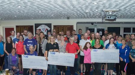 Stowmarket Striders Trail Run presentation evening at Stowmarket Football Club. Picture: ANDREW SARG