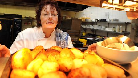 Yes, chef! Lynne Mortimer doing midday service at a restaurant without the aid of cyder vinegar, ros