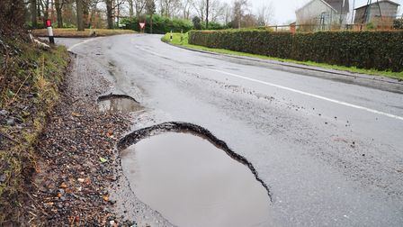 Potholes have been a problem in Suffolk following a harsh winter Picture: SARAH LUCY BROWN