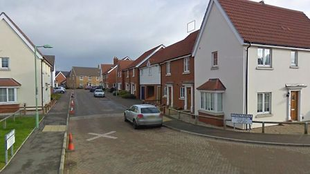 The robbery happened at a house in Osprey Drive, Stowmarket Picture: GOOGLE