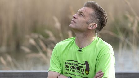 Chris Packham visited East Anglia as part of his UK Bioblitz initiative in July