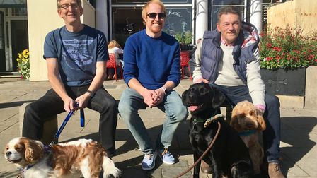 Left to right: Mike Kirkham, from Our Bury St Edmunds, Jon Kay, from Bury St Edmunds Canine Creche,